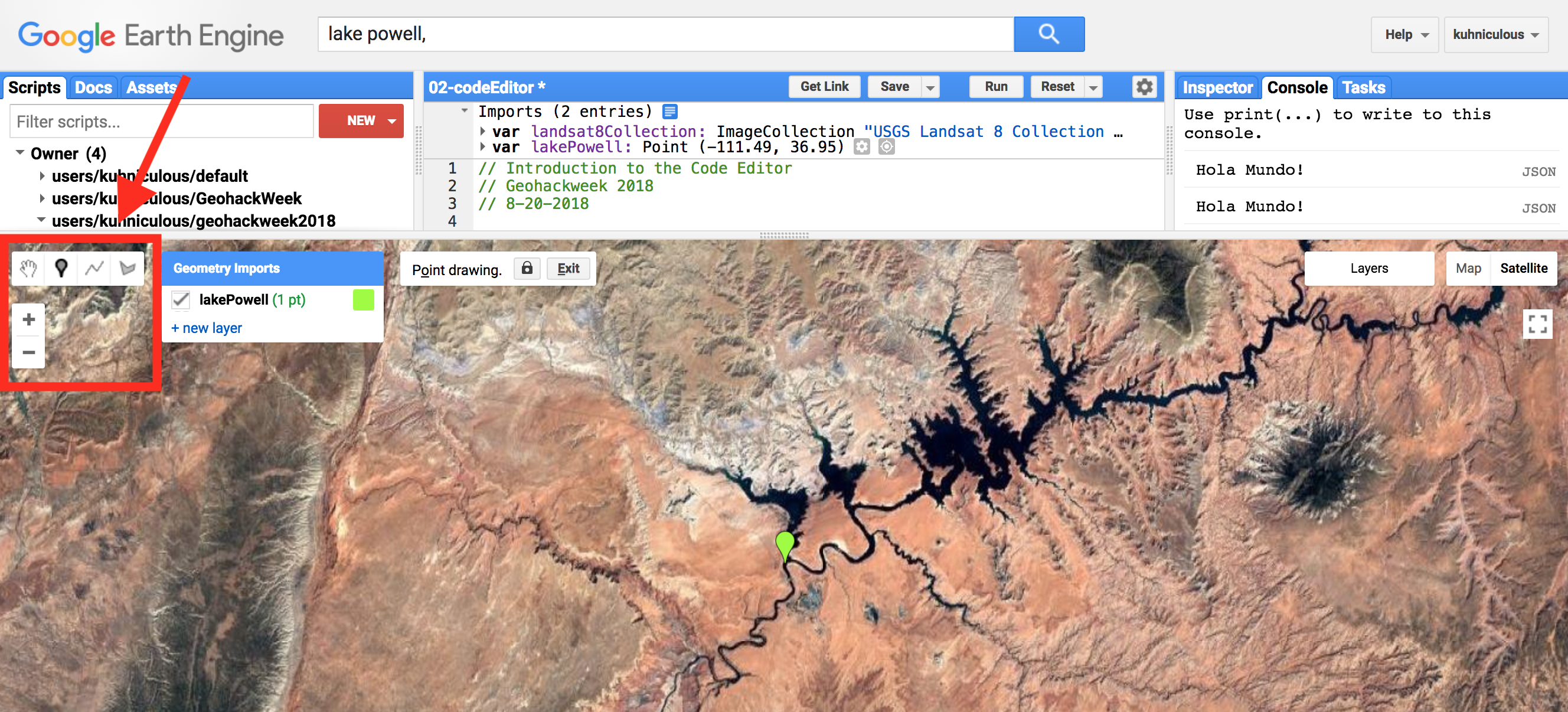 Google Earth Engine: Code Editor